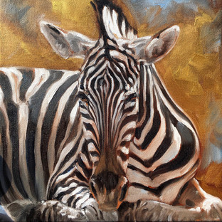 Golden Creatures: Zebra   (SOLD)