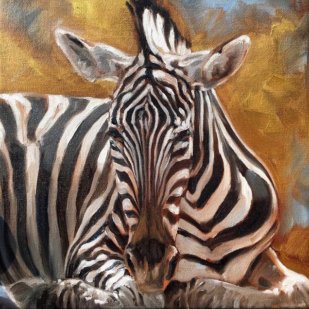 Golden Creatures: Zebra   (SOLD)