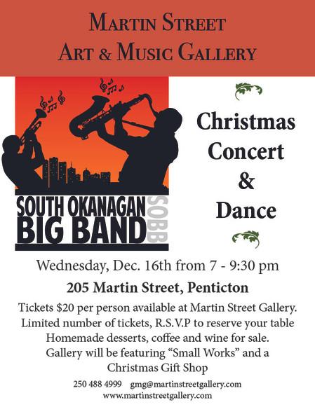 Join us for the South Okanagan Big Band Christmas Concert and Dance!