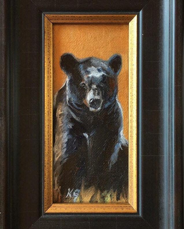 Golden Creatures: Sitting Black Bear (SOLD)