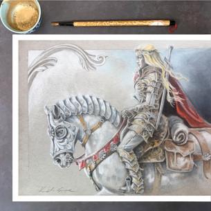 Rowan and her Warhorse