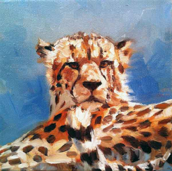 Blue Cheetah (SOLD) Prints Available