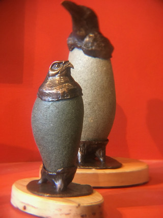 Bronze & Stone / $900 each