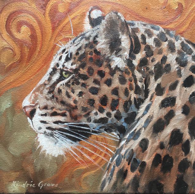 Golden Creatures: Young Leopard II (SOLD)