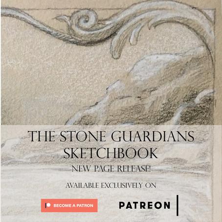 December's Stone Guardians Sketchbook Page release