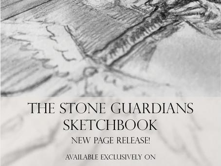 November Patreon Rewards for the Stone Guardians Sketckbook