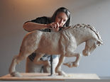 Photo of Kindrie Grove Sculpting a horse
