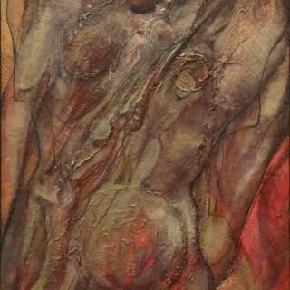 """Strength & Strife / 16.5"""" x 29.5"""" / Acrylic on canvas /"""