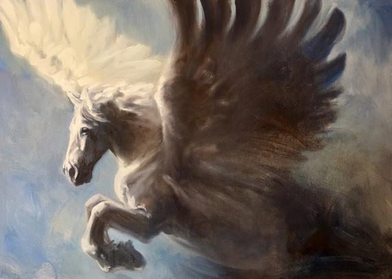 "Pegasus / Oil on Canvas / 20"" x 24"" / $2,500"