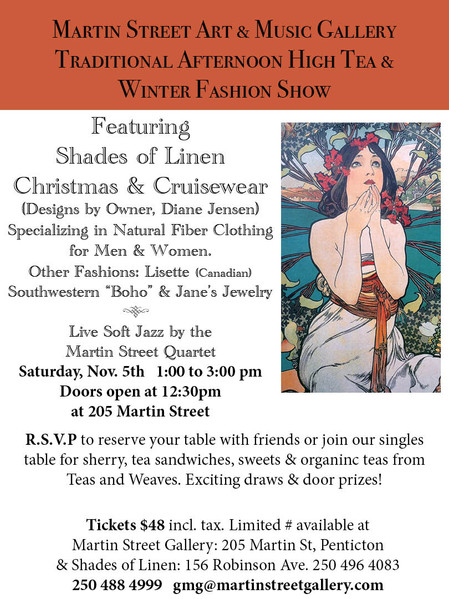 Winter High Tea Fashion Show featuring Shades of Linen