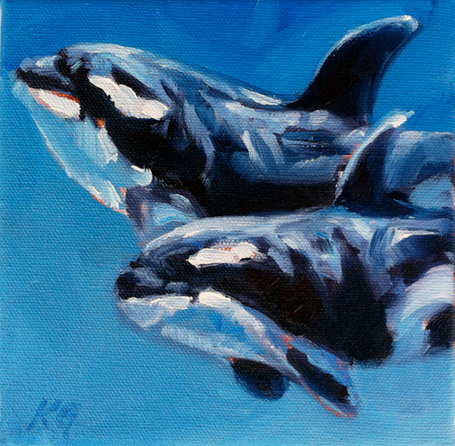 Orca Whales (SOLD)