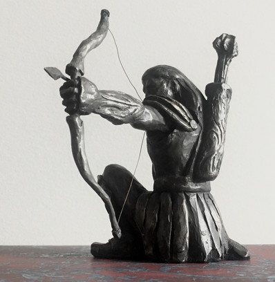 "Archer: The Arrow Already Exisits in the Target / Cast Bronze 6"" high / Edition of 36 / $690"