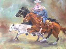 """Two for the show / 24"""" x 30"""" / Oil on Canvas / $72"""