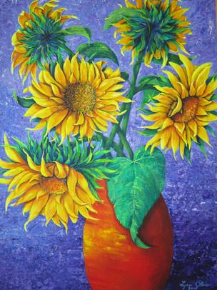 "Sunflowers / 18"" x 24"" /"