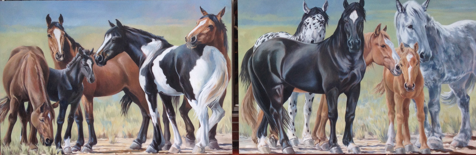 "The Herd / Commission / 144"" x 48"" / Oil on Canvas / SOLD"
