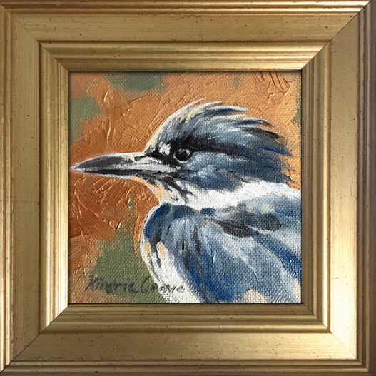 Golden Creatures: Belted Kingfisher (SOLD)