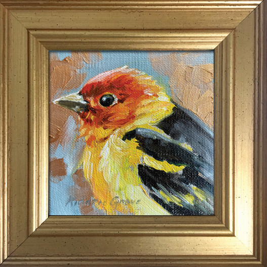 Golden Creatures: Western Tanager (SOLD)