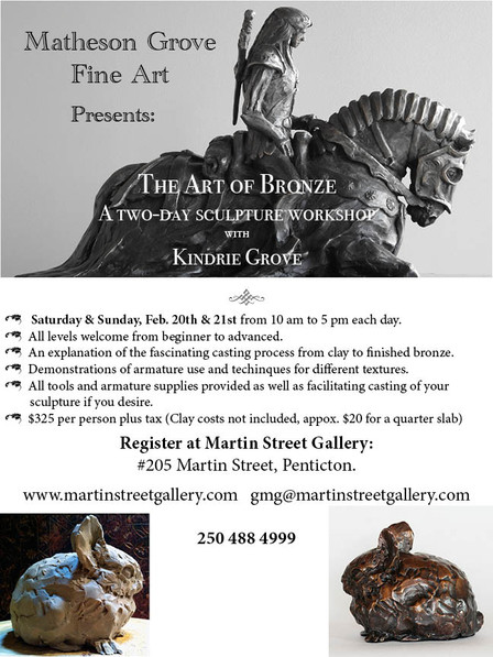 Sculpture Workshop With Kindrie Grove