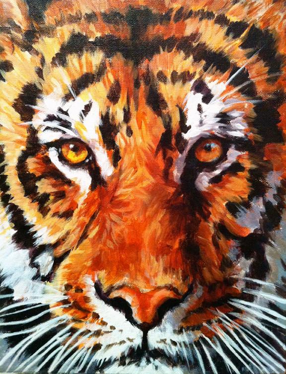 Tiger Face (SOLD)