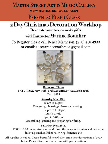 Fused Glass Workshop: Create Your Own Christmas Decorations!