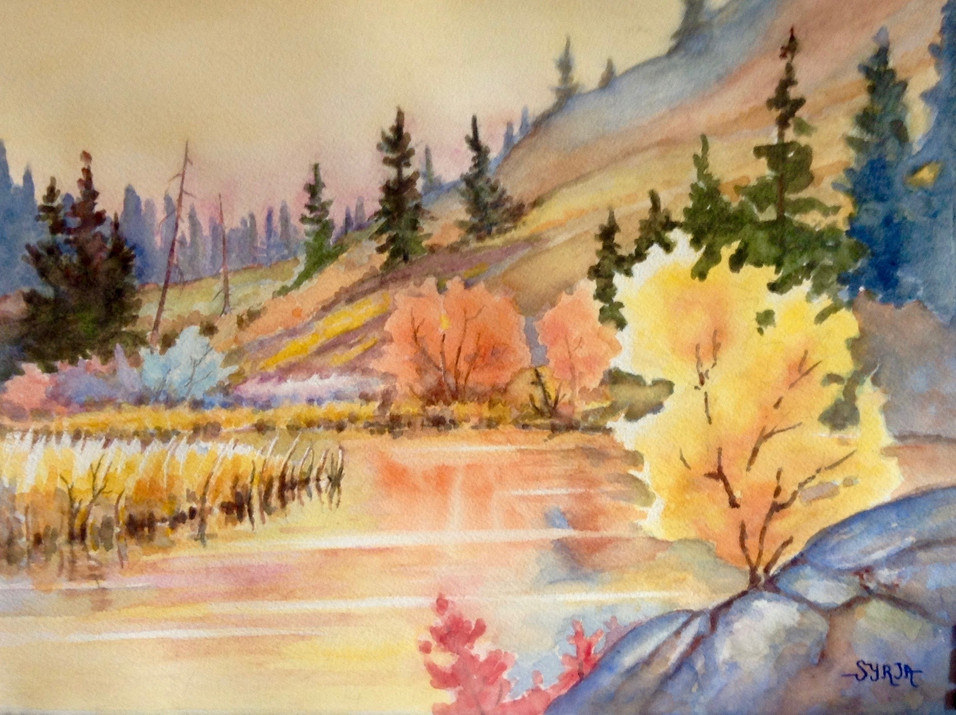 "The Sheep Preserve / Watercolour / 11"" x 15"" / $450"