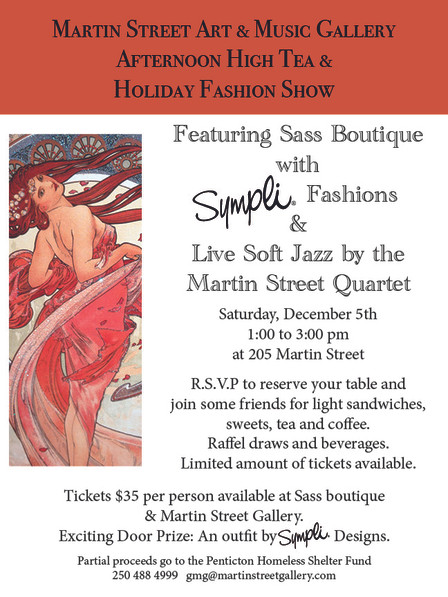 Afternoon High Tea Fashion Show with Sass Boutique and Simpli Designs.