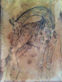 Giraffe Stretch (SOLD)