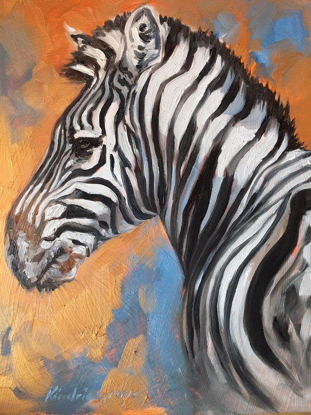 Golden Creatures: Zebra Stallion
