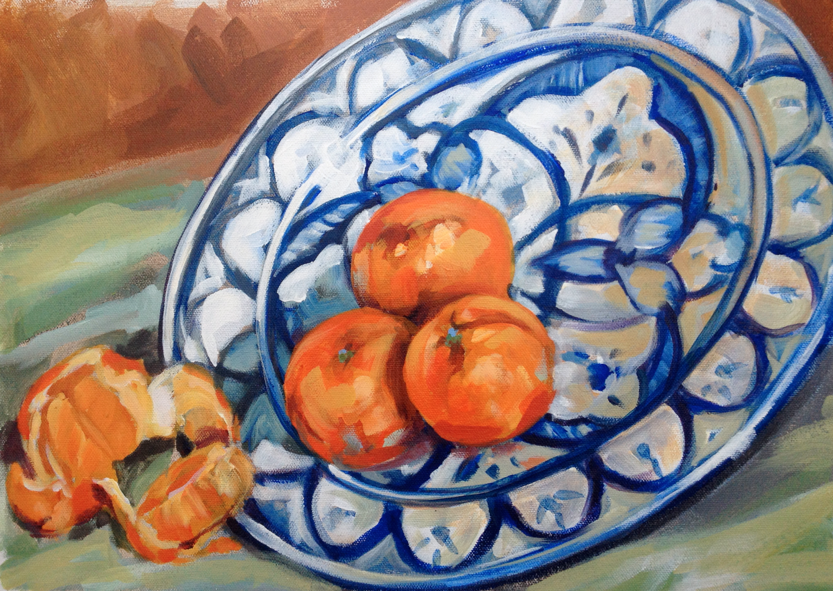 Spanish Bowl and Oranges