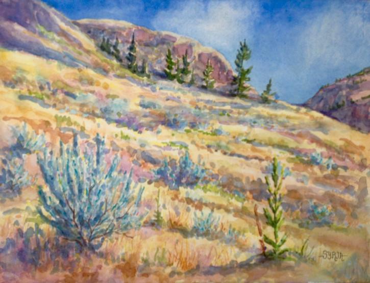 """Near Twin Lakes / Watercolour / 11"""" x 15"""" / $450"""