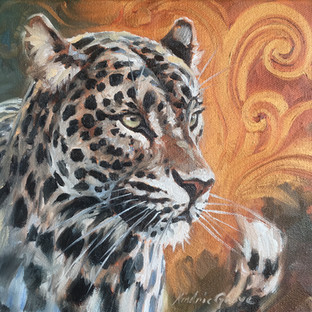 Golden Creatures: Young Leopard I (SOLD)