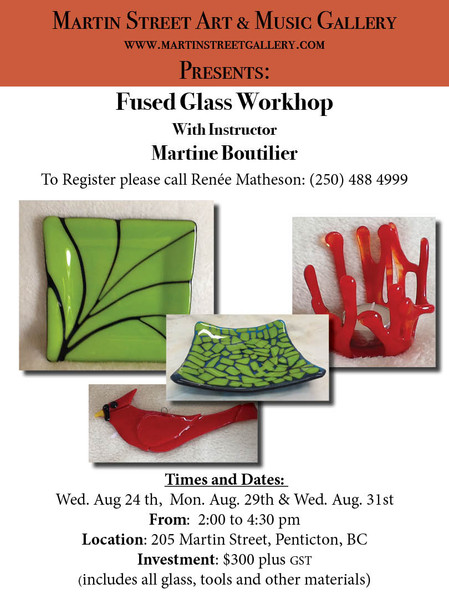 Fused Glass Workshop with Martine Boutillier