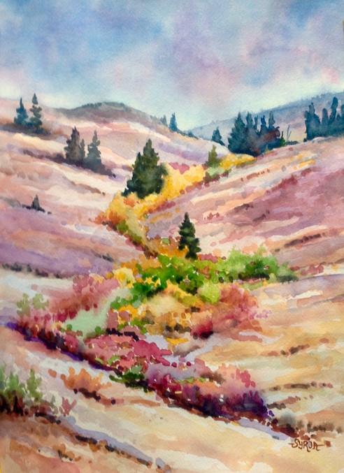 """White Lake Road / Watercolour / 11"""" x 15"""" / $450"""
