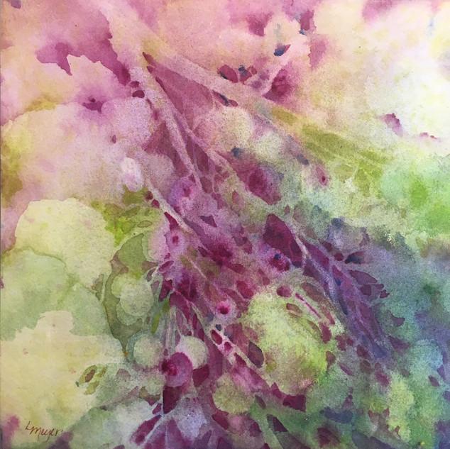 "Happy in Purple / Watercolour / 8"" x 8"" & 10"" x 10"" / Set $235"