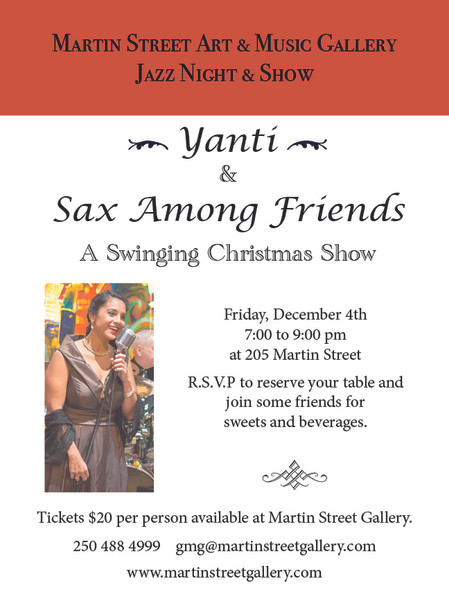 A Jazzy Christmas Concert With Sax Among Friends Featuring Yanti.