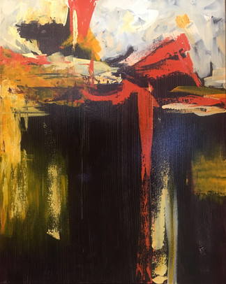"""Morning is Dawning / Acrylic on Canvas / 20"""" x 16"""" / $445"""