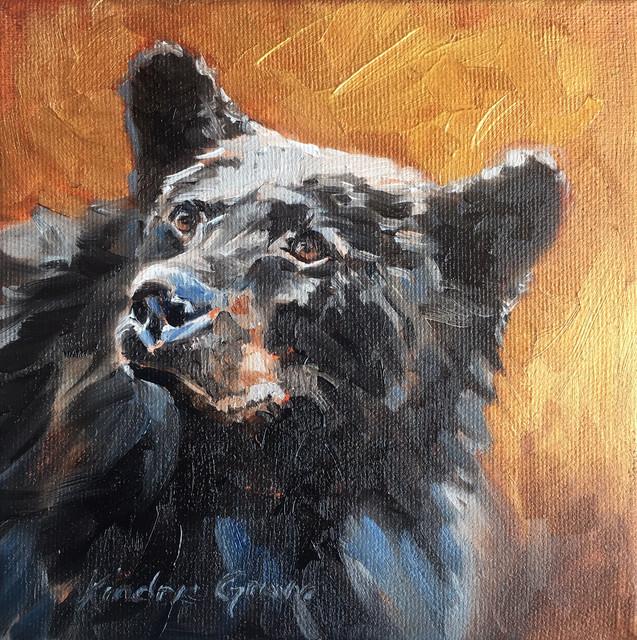 Golden Creatures: Young Black Bear II (SOLD)