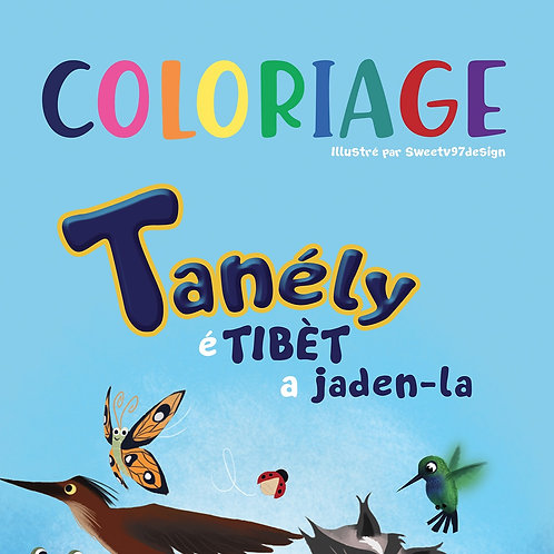 """8 pages de coloriage """"Tanély è tibét a jaden-la"""""""