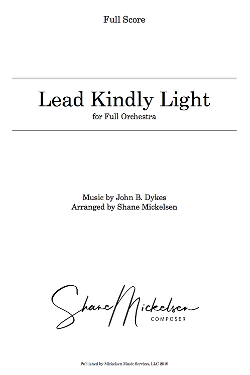 Lead Kindly Light | Full Orchestra - Score and Parts