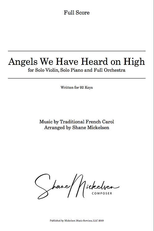 Angels We Have Heard On High - 92 Keys | Full Orchestra - Score and Parts