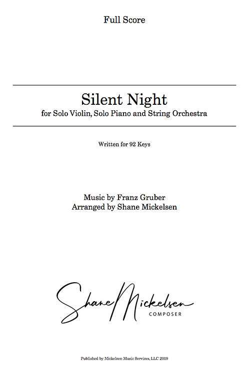 Silent Night - 92 Keys | String Orchestra and Solo Violin - Score an