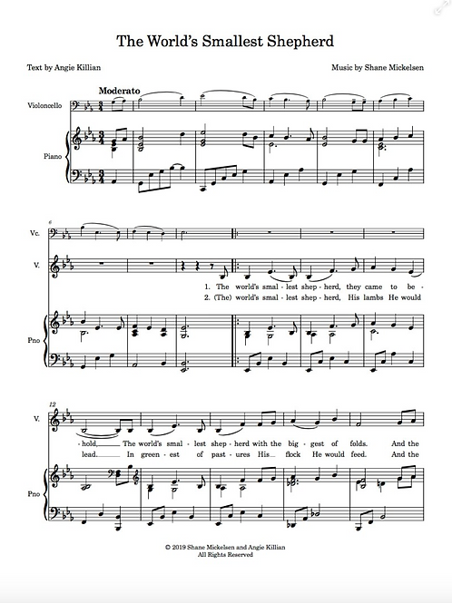 The World's Smallest Shepherd - Sheet Music