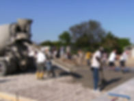 Laying Concrete in Haiti