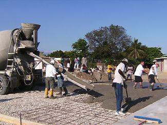 Laying Concrete in Haiti
