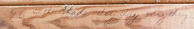 writing on historical wood