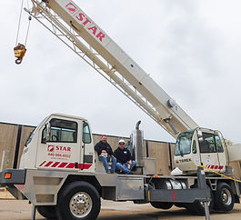 STAR Employees on the company swing cab crane