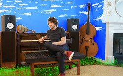 townsppl press shot - nice young man, piano, clouds