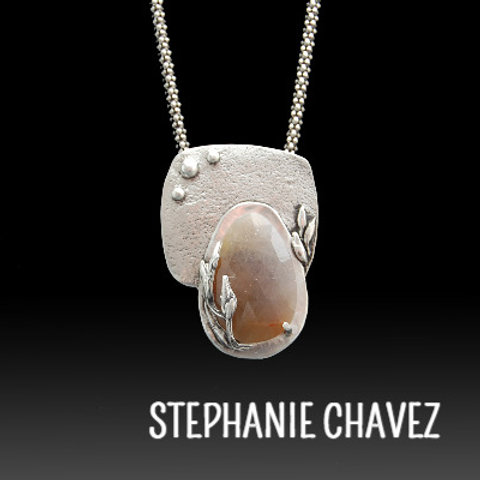 Prong-Set Stone Pendant with Stephanie Chavez