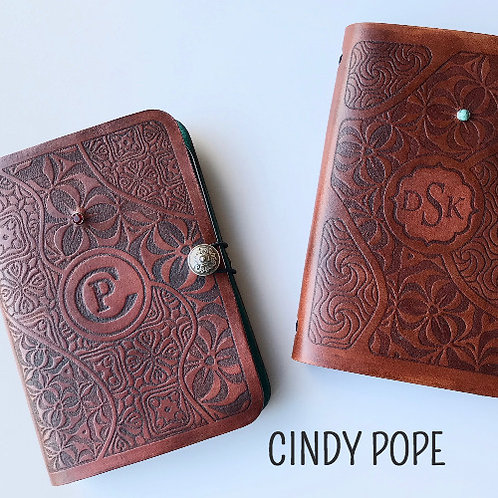Curio Created - Custom Tooled Leather Journal with Cindy Pope