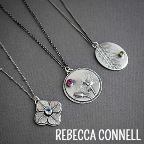 Gems and Blooms: Mixing Silversmithing with Metal Clay by Rebecca Connell